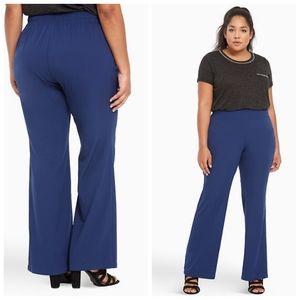 Torrid Crepe Slim Navy Blue Flare Dress Pants